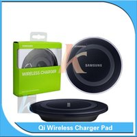 Wholesale Wireless Charger Pad For Samsung Galaxy S6 S6 Edge QI Wireless Charging Pad With USB Cable For All Qi Enabled Devices Retail Box DHL