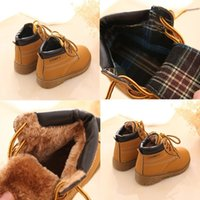 Wholesale Comfy kids winter Fashion Child Leather Snow Boots For Girls Boys Warm Martin Boots Shoes Casual Plush Child Baby Toddler Shoe