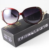 acrylic wine glasses - Women Sunglasses Wine Red Frame Eyewear Eyeglasses Sun Glasses Goggle Gradient Lenses Shade Point Fashion Design UV400 Antireflect Driving