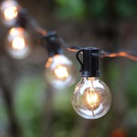 Wholesale G40 String Lights With 25 G40 Clear Globe Bulbs Listed For Indoor  Outdoor Vintage Backyard Patio Lights, Outdoor String Lights