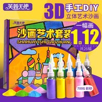 Wholesale Lotus Angel children DIY manual sand colored sand painting sand painting three dimensional suit boys and girls toys