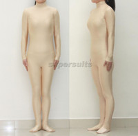 adult nude - Unisex Adult Flesh Nude Lycra Spandex Zentai costume party Bodysuit dancewear Catsuit Unitard No Hood Hands