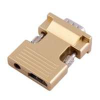 Wholesale New HDMI Female to VGA Male Converter with Audio Adapter Support Full HD P Output Golden