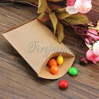 Wholesale 12pcs New Anti Scratch Kraft Paper Pillow Shape Wedding Favor Gift Pillow Boxes Party Favour Candy Box x6 x2 cm