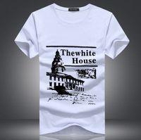 basic house fashion - The new summer short sleeve T shirt Men s basic tee round collar T shirt short sleeved cotton crime plus size xl of the White House