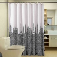 Wholesale Letters Shower Curtain - Classy Polyester Letters Patterns Waterproof Shower Curtains Moldproof Thicken Curtain Eco-friendly Bathroom Curtains With Plastic Hooks