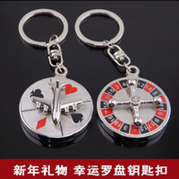 aviation products - Rotatable creative aviation aircraft compass key ring high end business gifts metal key buckle personalized products