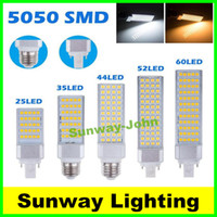 Wholesale Horizontal Plug lights led corn bulb E27 G24 G23 SMD AC V W W W W W W W LEDs
