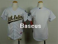 Wholesale Kids Oakland Athletics baseball jerseys Oakland Athletics Blank jersey for youth mixed order stitched logos