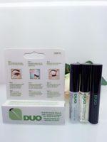 Wholesale New arrival DUO Eyelash Adhesives Eye Lash Glue brush on Adhesives vitamins white clear black g New packaging makeup tool