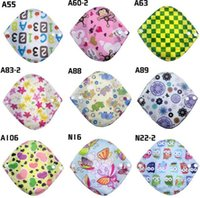 Wholesale Feminine Bamboo Cotton Sanitary Napkin Washable Cloth Menstrual Pad Heavy Flow Menstrual Liner No Leak Reusable Sanitary Pads