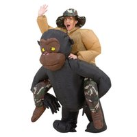 airblown halloween costumes - Halloween Gorilla Suit Party Inflatable Gorilla for man dark ILLUSION fancy dress disfraces Airblown riding Gorilla mascot