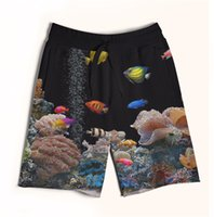 aquarium making - Real USA size aquarium D Sublimation print custom made men fifth seventh legnth shorts with string Plus Size