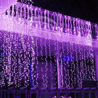 Wholesale Curtain lights christmas lights m m m LED Twinkle Lighting xmas String Fairy Wedding Curtain background Party Christmas Lights