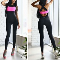 Wholesale Vertvie Sport Suit Women Hollow Back Bandage Breathable Jumpsuit For Running Jogging Sleeveless One piece Women Sport Clothing