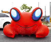 Wholesale by DHL inflatable moving red crab model Advertising Inflatable