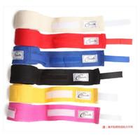 Wholesale 2Pcs roll cm cm Men Cotton Boxing Bandage Strap Glove Wraps Boxing Equipment MMA Kickboxing Muay Thai Sanda Sports Training