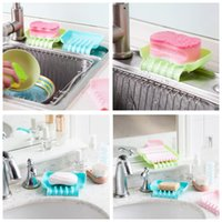 bar sink drains - Kawaii Bath Storage Sink Holder Kitchen Tools Gadget Portable Hanging Drain Bag Sponge Drain shelf Basket For soap bar kitchen