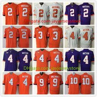Wholesale Clemson Tigers Jersey Footbball Ncaa College Tajh Boyd Sammy Watkins Wayne Gallman II Artavis Scott Deshaun Watson Orange Purple White