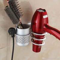 Plastic bathroom kitchen set - New Wall Mounted Hair Dryer Drier Comb Holder Rack Stand Set Storage Organizer New Excellent Quality Worldwide Store