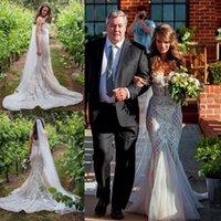 bead buyer - 2016 Full Lace Wedding Dresses Sweetheart Mermaid Backless Wedding Gowns Sweep Train Sleeveless Berta Buyer Show Spring Beach Bridal Dress