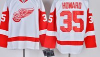 best detroit - Detroit Red Wings Mens Jerseys JIMMY HOWARD White Ice Hockey Jersey Accept Mixed Orders Best Quality Size M XXXL