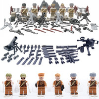 Wholesale 6PCS WW2 Soviet Russian National Army The Battle Moscow Anti Fascist Minifigures Building Blocks Compatible Legoes Military D164