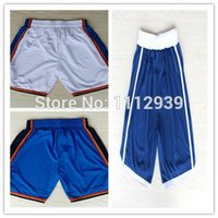 Wholesale Hot Sale New York Basketball Sports Shorts Carmelo Anthony Shorts Rev EmbroideryMen s Shorts