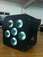 Wholesale 6pcs christmas decoration leds lighting par can battery powered par w RGBWA UV IRC wireless dmx led uplight led flat par for sale