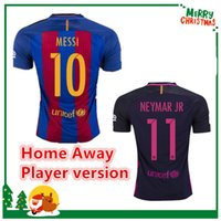barcelona jersey soccer - Barcelona Player version MESSI jersey A INIESTA SUAREZ SERGIO PIQUE I RAKITIC NEYMAR JR Shirt Club World Cup
