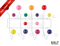 ball coat rack - MLF reg Eames Hang it all Wall Mounted Coat Rack with Painted Solid Wooden Balls in Eight Colors Multi Colors Available