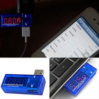 Wholesale Hot Digital Display Portable Mini USB Power Current Voltage Meter Tester Detector Charger Doctor order lt no track