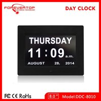Wholesale 2016 factory outlets alarm clock inch LED Digital calendar Day clocks table clock