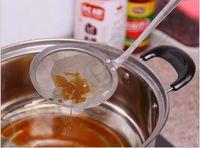 Wholesale 500PCS MMA39 New Arrive Stainless Steel Fine Mesh Oil Skimmer Strainer Long Handle Strainer Hot Pot Mesh