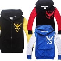 Wholesale 2016 New arrival Poke Kids Zipper Hoodies Hooded Coats Pikachu Cartoon Jacket boys clothing Spring Autumn clothing Kids Christmas Gifts