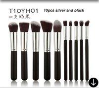 Wholesale 10PCS professional makeup brush sets brush synthetic cosmetic foundation blush brush eyeliner makeup tool
