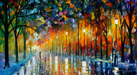 beautiful reflection - Beautiful Leonid Afremov s Palette knife oil painting custom size ice reflections hand painted on linen