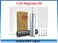 coil kit automatic electrical - PilotVape Coil Magician Electrical Automatic Coils Jig use battery with coiling poles Perfect Tool Kit fit Atomizers VS Coil Master