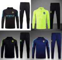 Wholesale 3A Best quality Manchesteers soccer tracksuit chandal football Tracksuit training suit skinny pants Sportswear best quality