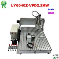 Wholesale Axis CNC Router Engraving milling Machine KW VFD water Cooled spindle mini metal engraver with USB