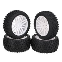 Wholesale Generic White For HSP Off Road RC Buggy Front Rear Rubber Tires Wheel Rim