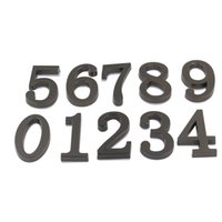 Wholesale Black Digits House Hotel Door Number Address Plate Sign Size x30mm Self Adhesive Sticker Alloy Room Gate Number