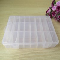 Wholesale 2Pcs Grids transparent adjustable slots jewelry bead organizer Storage box for store small sewing hand knitting tools