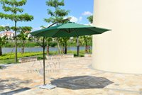 Wholesale 2 meter steel iron promotion patio sun umbrella garden parasol sunshade outdoor furniture covers no stone base