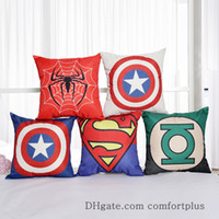 Wholesale Hot New Style D Digital Printing Flax Cushion Covers Superman Hero Series Throw Pillow Covers Without Insert