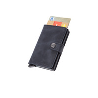 Wholesale Mini wallet Male Magic Wallet leather Purse Men High Quality Secrid style mini wallet black brown color Small Wallets card holder