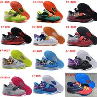 bad medium - 2015 Newest KD7 Christmas Basketball Shoes Cheap KD VII Texas Bad Apple N7 GS Sports Sneakers KDs Away Athletic shoes