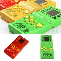 Wholesale Childhood Classic Tetris Hand Held LCD Electronic Arcade Pocket Game Toys Fun Brick Game Riddle Educational Toys