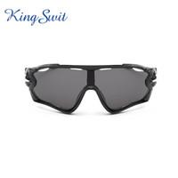 Wholesale KingSwit Newest Sport Sunglasses For Men Oversized Frame Black Goggle Fashion Cycling Eyewear Eyeglasses Ship By EMS KS394