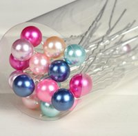 Wholesale 8MM White Pearl Hair Pin For Wedding Fashion Alloy Hair Clips Lady Hair Jewelry Hairpin DHL